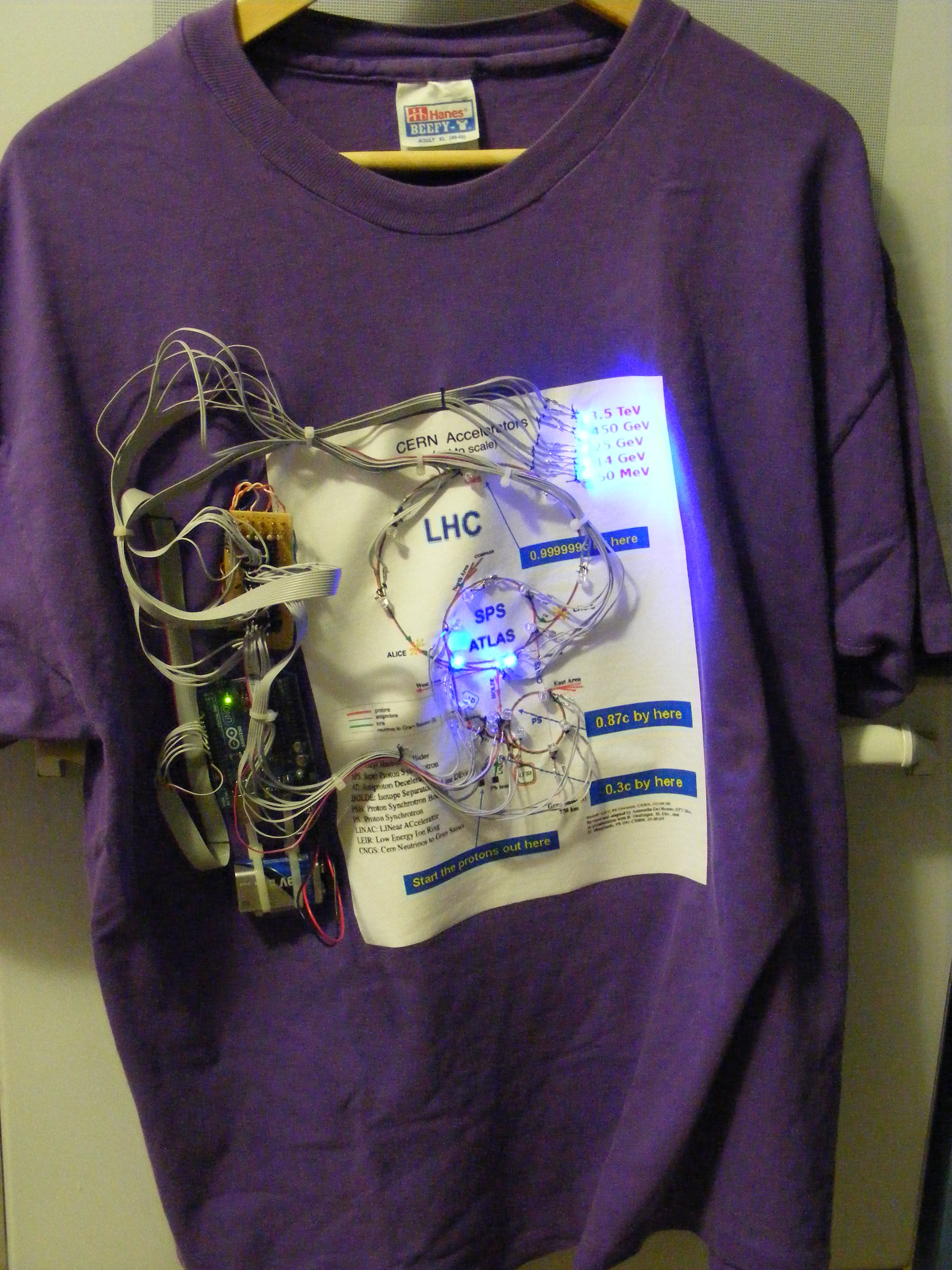 Picture of God Particle Wearable LHC Demonstrator Shirt