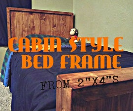 """Cabin Style Bed Frame (from 2""""x4""""s)"""