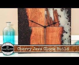 Cherry Wood Java Clock