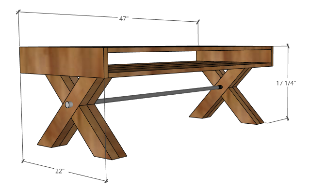 Picture of X Leg Coffee Table