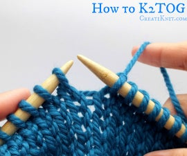 How to K2tog and P2tog (knit 2 together, purl 2 together)