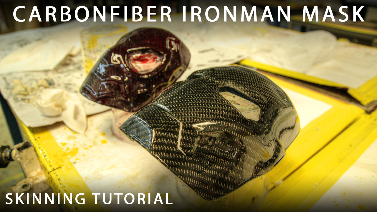 Picture of Carbonfiber Ironman & Spiderman Mask (skinning/wrapping)