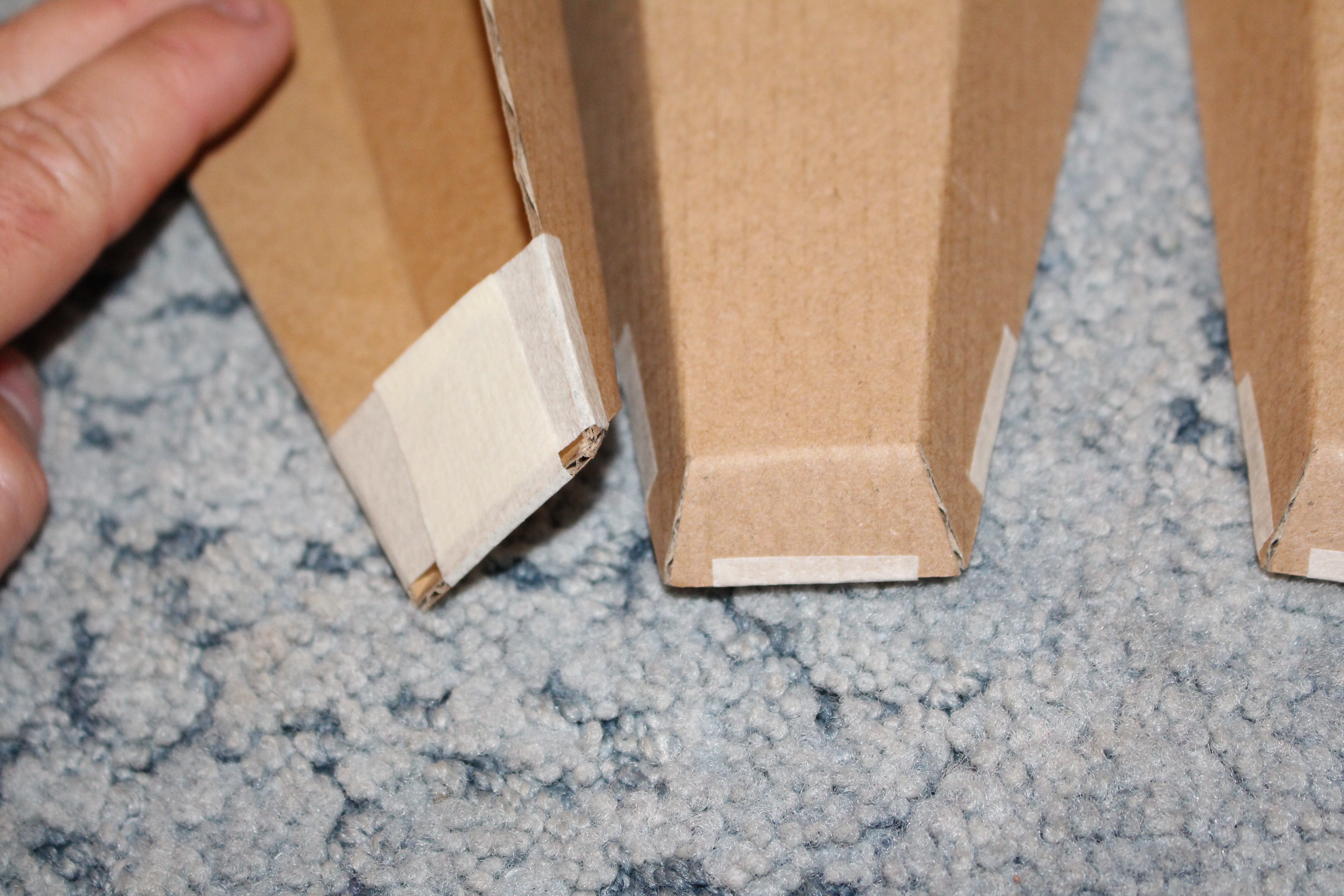 Picture of Designing the Shape and Cutting Out the Cardboard.