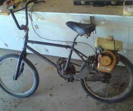How to power your bike with a whippersnipper motor