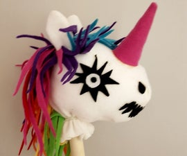 No Sew - Zombie Unicorn Hobbyhorse