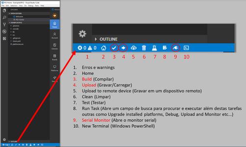 PlatformIO Toolbar