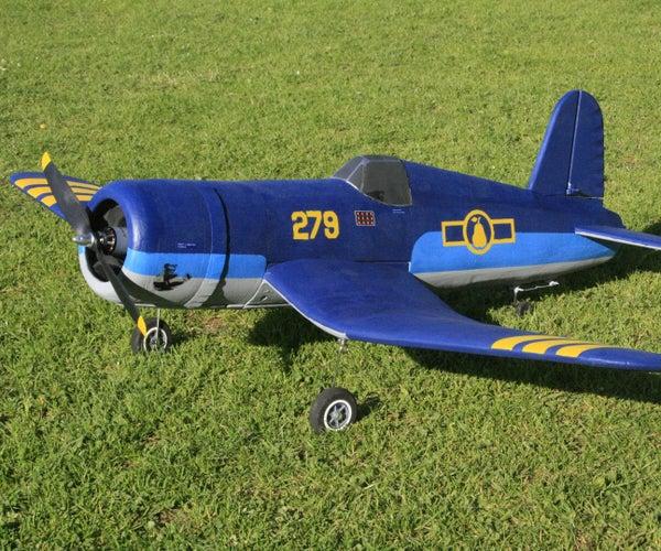 RC Model Corsair F4U Made of Depron