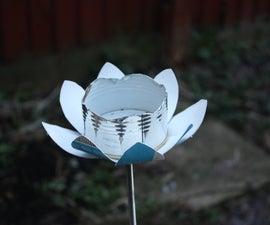 flower shape bird feeders made from junk