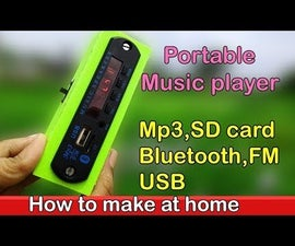 Portable Music Player With 3D Printed Box