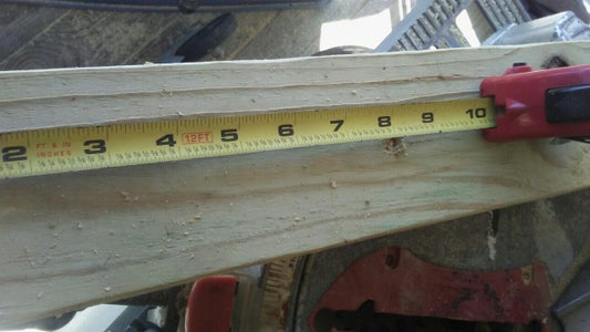 Measure and Drilling Holes Adding Eyebolts