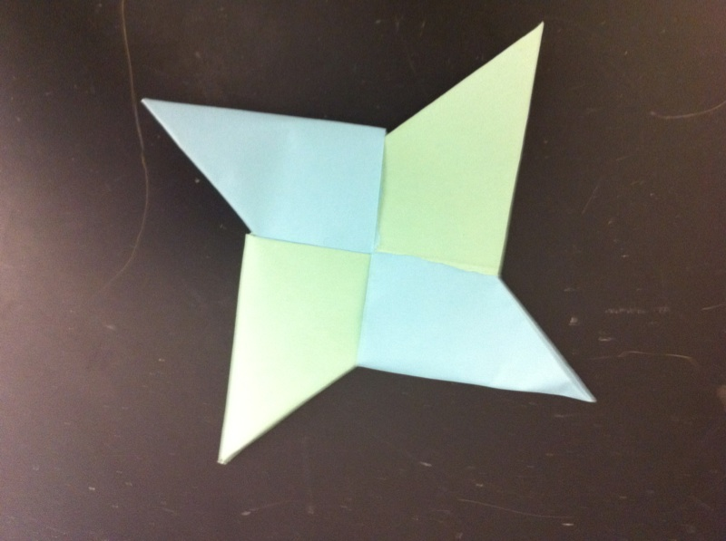 Picture of How to Make a Paper Ninja Star.