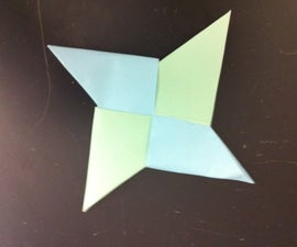 How to make a paper ninja star.