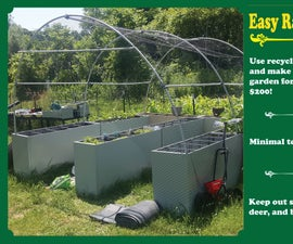 Easy Upcycled Raised Beds With Deer Screen