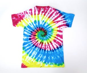 How to Tie Dye an Old White Shirt