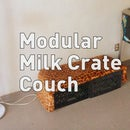 Modular Milk Crate Couch