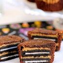 Brownies de Oreo y mantequilla de cacahuete