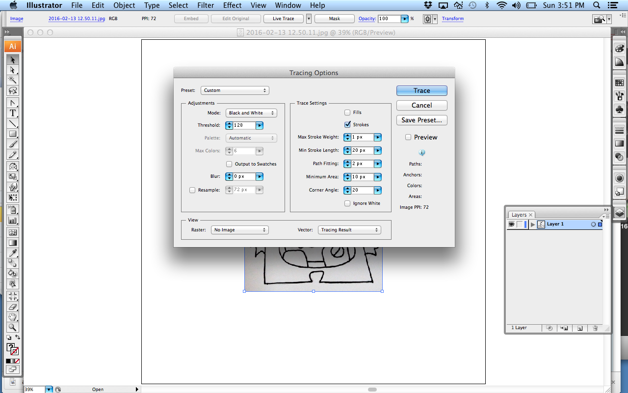 Picture of Convert Hand Drawing to Vector