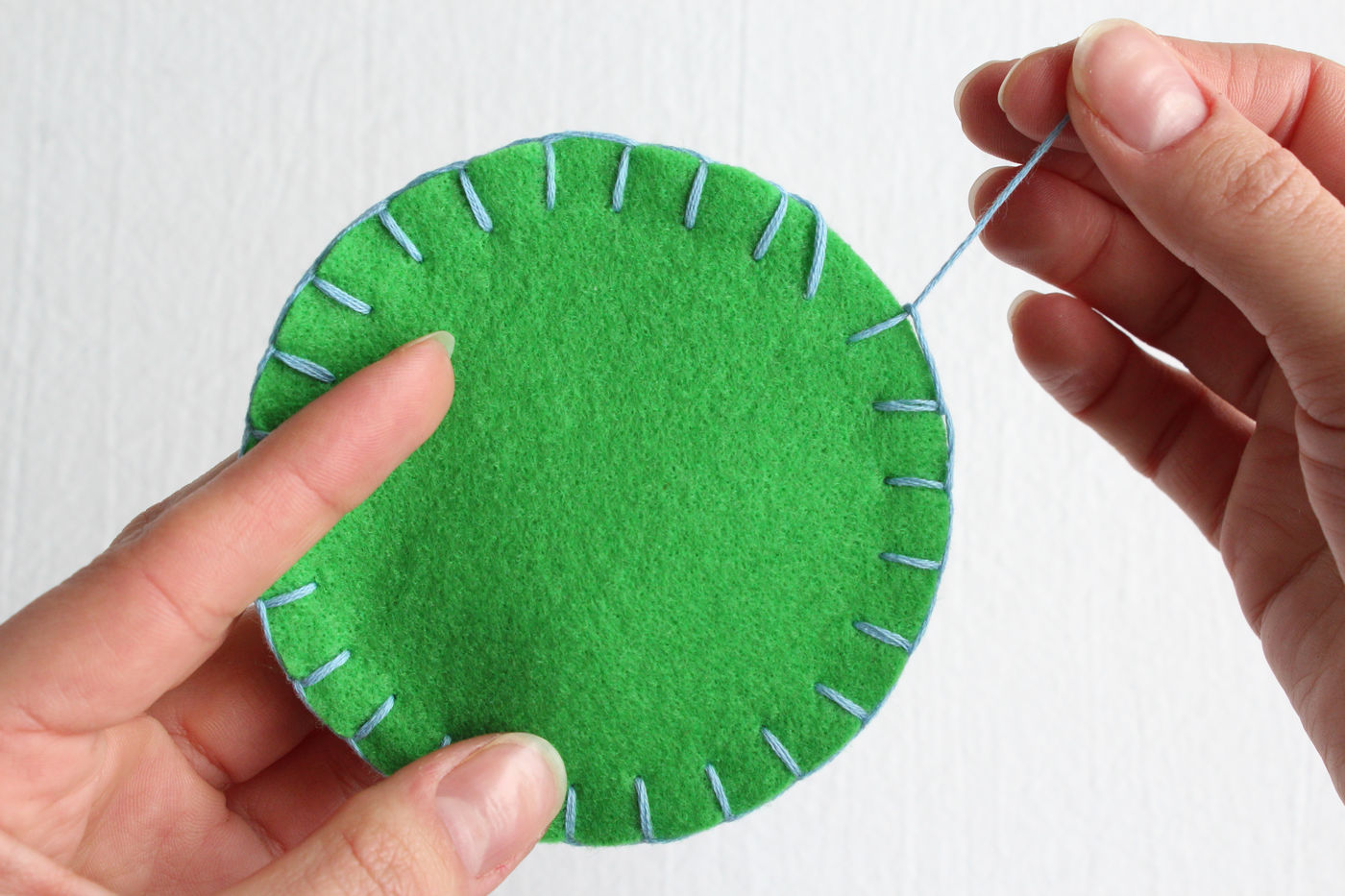 Stitching the Coasters