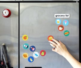 Easy Magnetic Grocery List