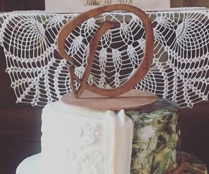 How to Make a Letter Wedding Cake Topper