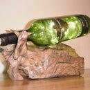 wine bottle bog wood lamp