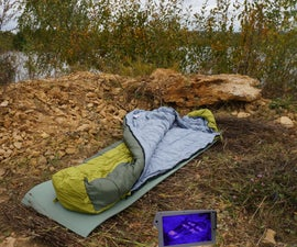 DIY Carbon Heated Sleeping Bag V.2.0
