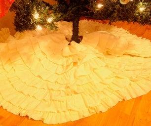 No Sew Christmas Tree Skirt