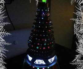 Cardboard Christmas Tree With Lights.