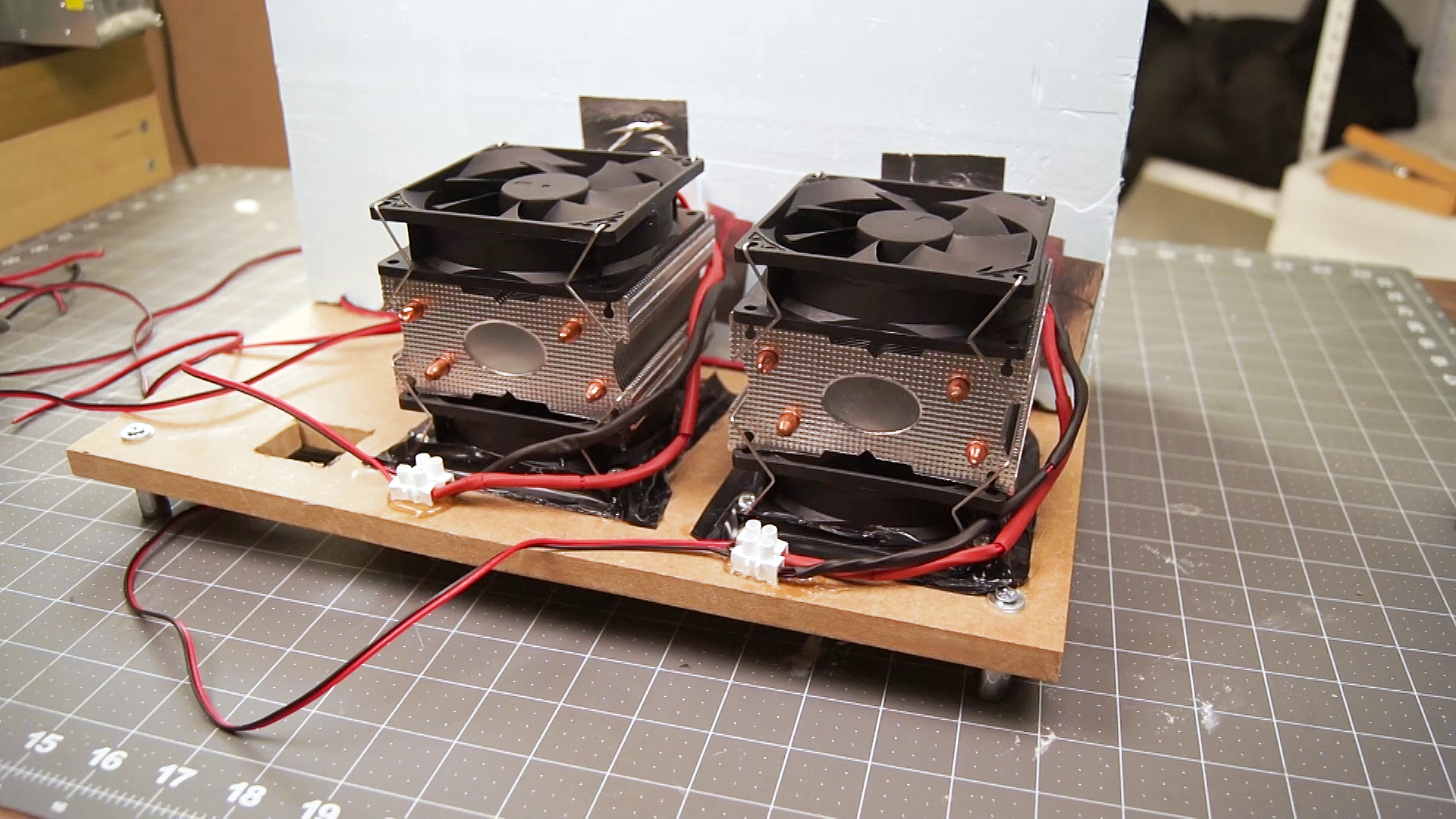 Picture of Clean Up and Attaching the Cooling Modules