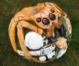 Giant Spider Pumpkin Carving
