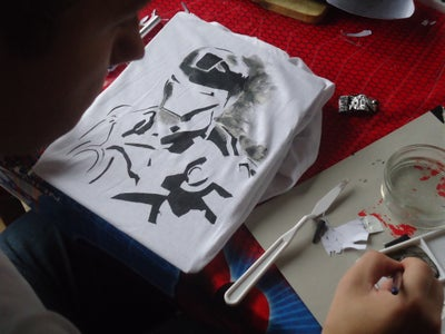 Using Stencil and Paint