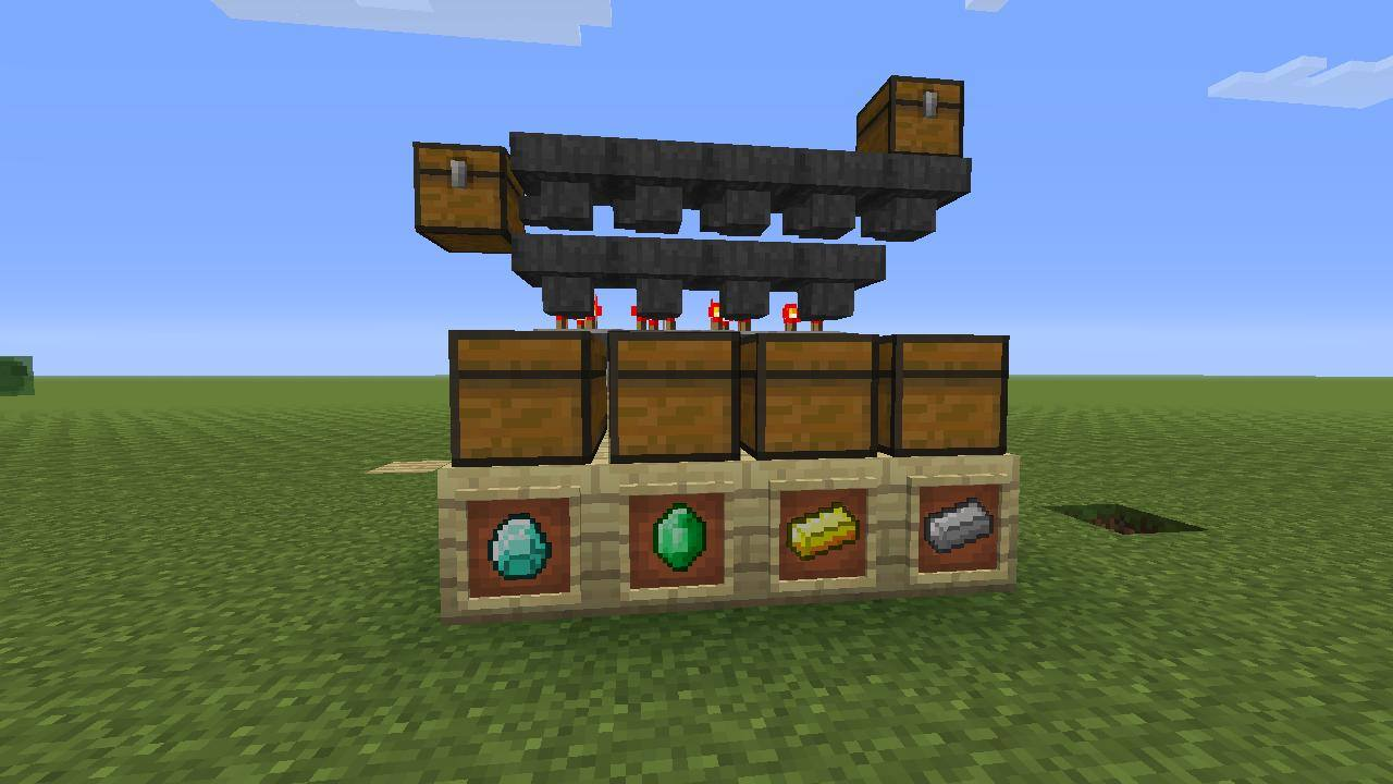 Minecraft Sorting System: 9 Steps