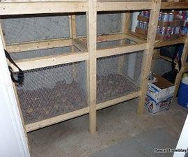 Vegetable Bins - Build Wire Mesh Vegetable Bins in Cold room or Root celar