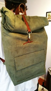 Soft Leather & Suede Backpack