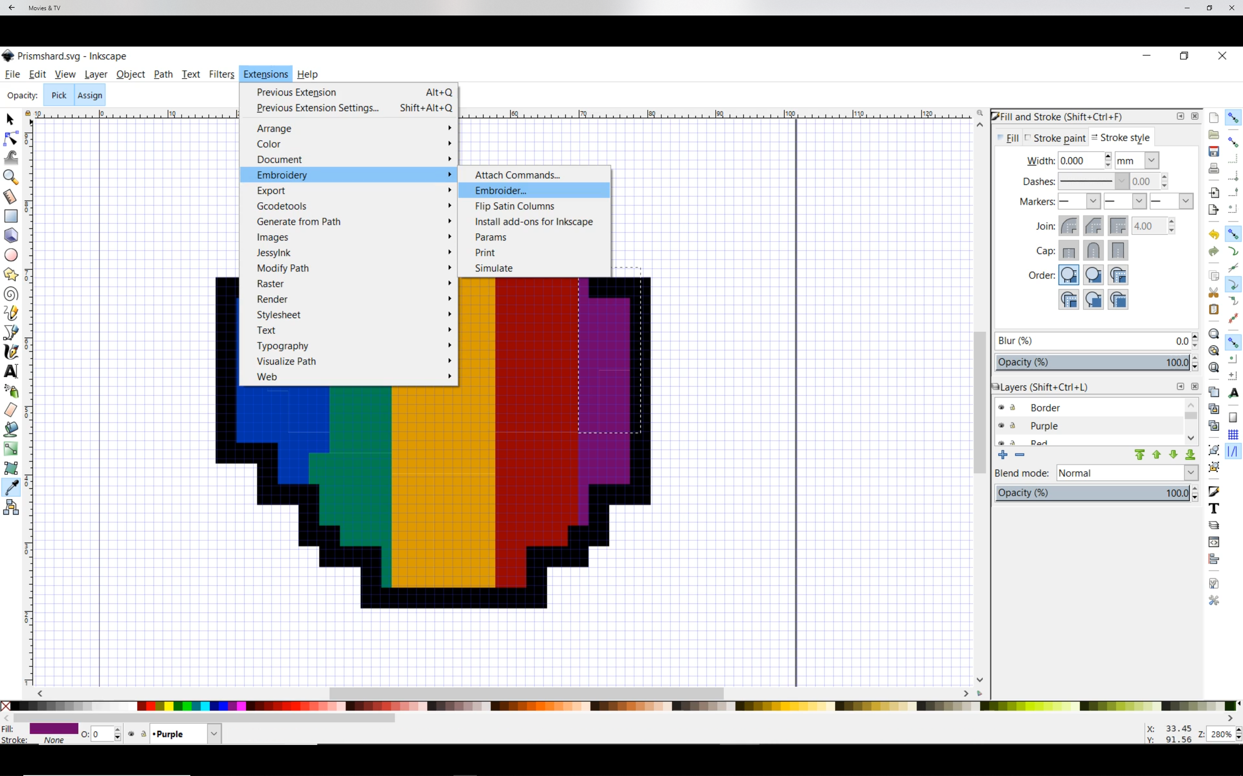 Picture of Digitizing Your Image: Exporting Your Stitches