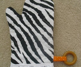 How to sew a cute oven mitt/glove - Easy!