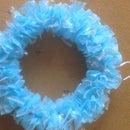 Crafty Wreath from Plastic Bags
