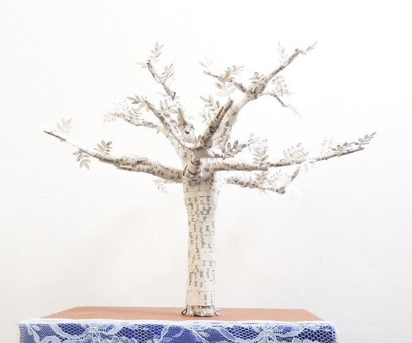 3D Book Page Tree Sculpture