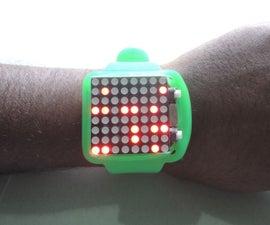 DIY Arduino Dot Matrix Wrist Watch