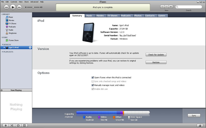 Picture of Enabling Disk Use