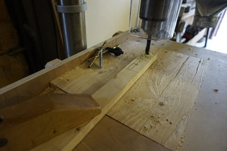 Drilling the Small Pieces of Wood