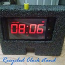 Recycled Clock stand