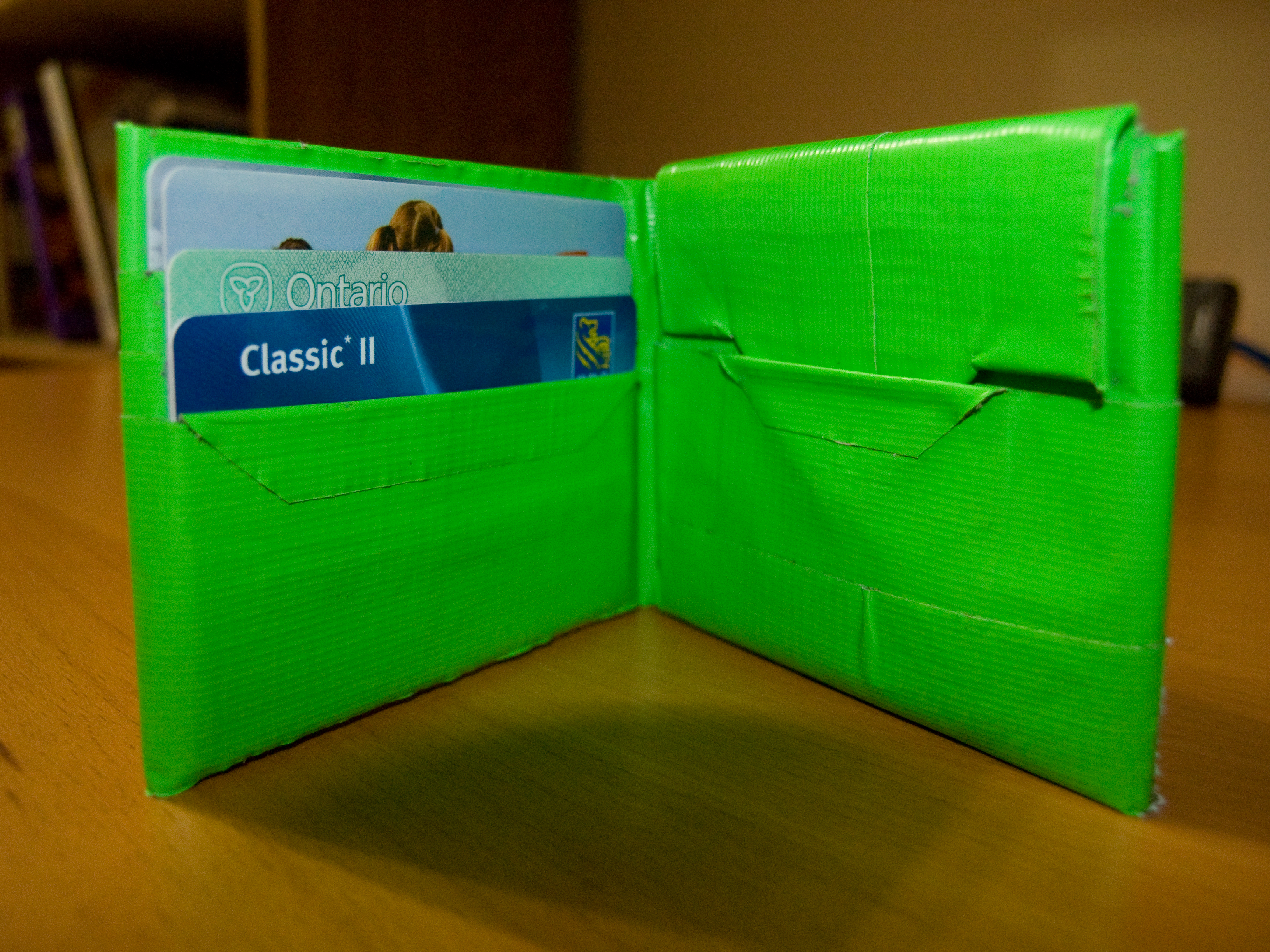 Picture of Quality Duct Tape Wallet With (optional) Change Pouch