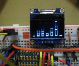 OLED Spectrum Analyzer W/arduino & MSGEQ7
