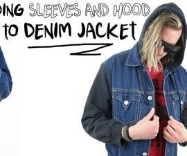 Adding Sleeves and Hood to Denim Jacket