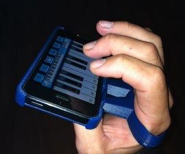 Free hand music grip holder for iPhone 5/5s (3D printing)