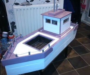 Garden Planter in the Shape of a Boat