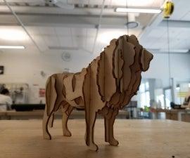 Laser Cut Lion