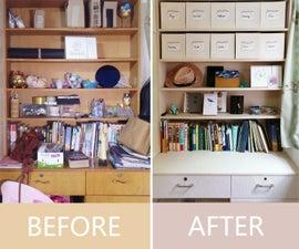 Easy Organization! Cardboard Storage Box
