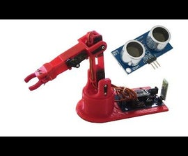 Control Arduino Robot Arm With Ultrasonic Sensor